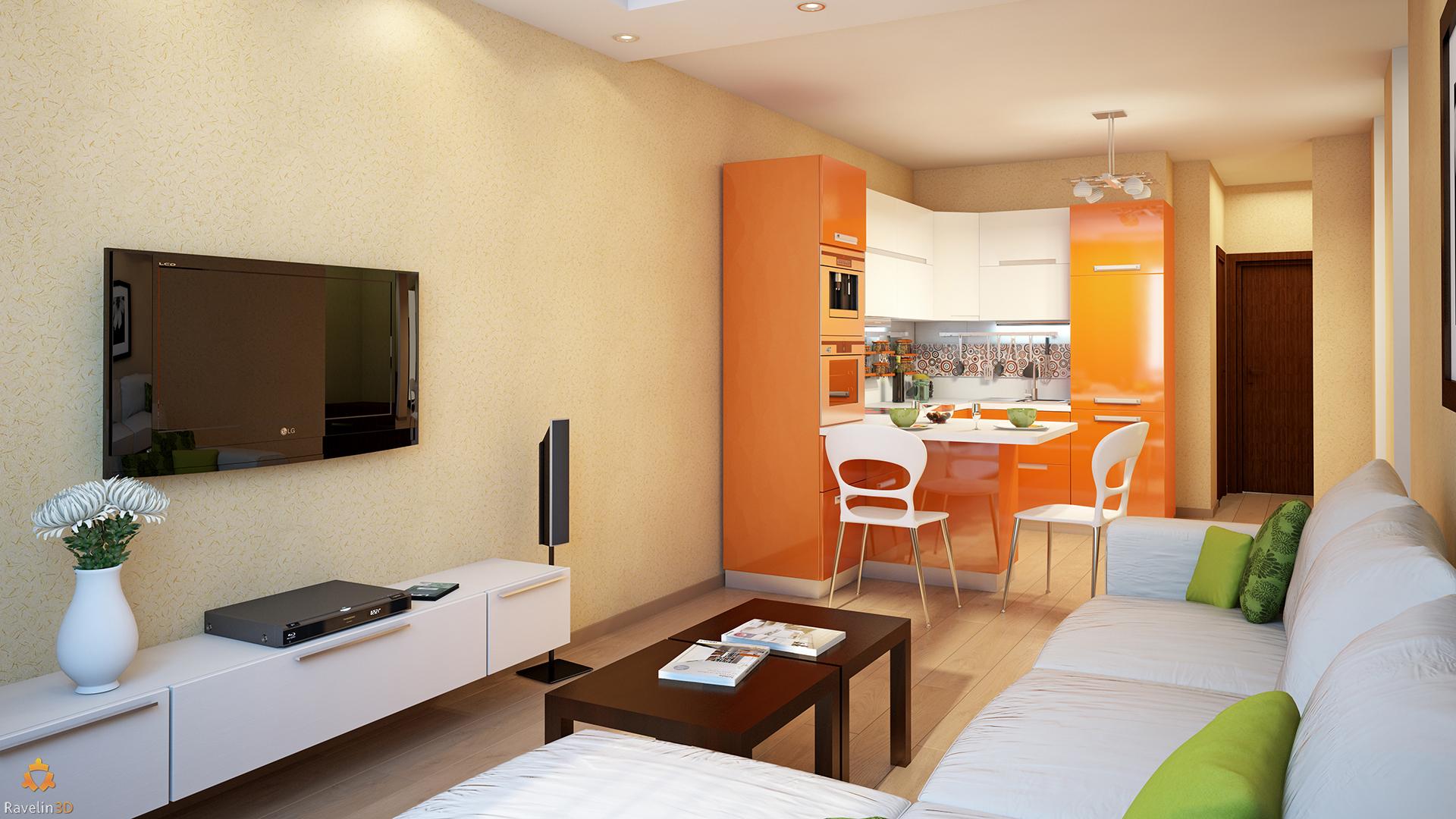 Кухня гостиная 25 кв м дизайн с мебелью