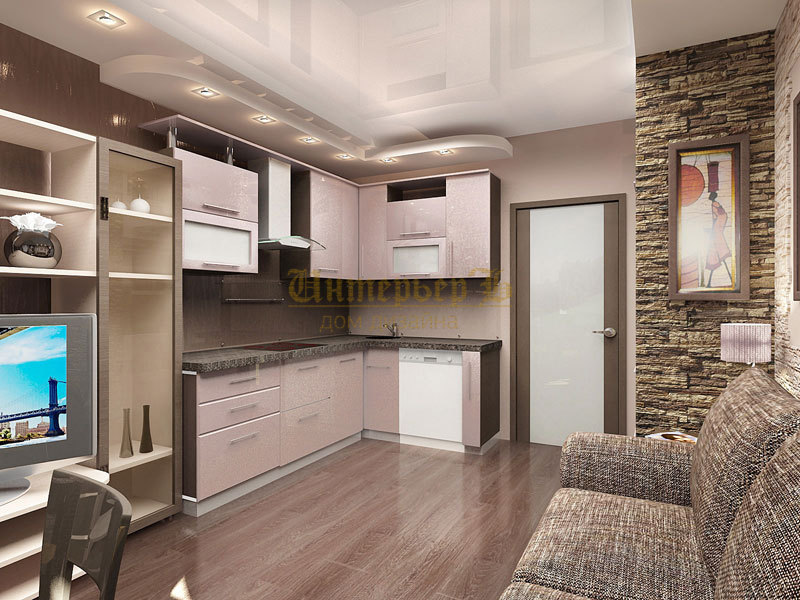 кухня-гостиная 23 кв.м дизайн фото