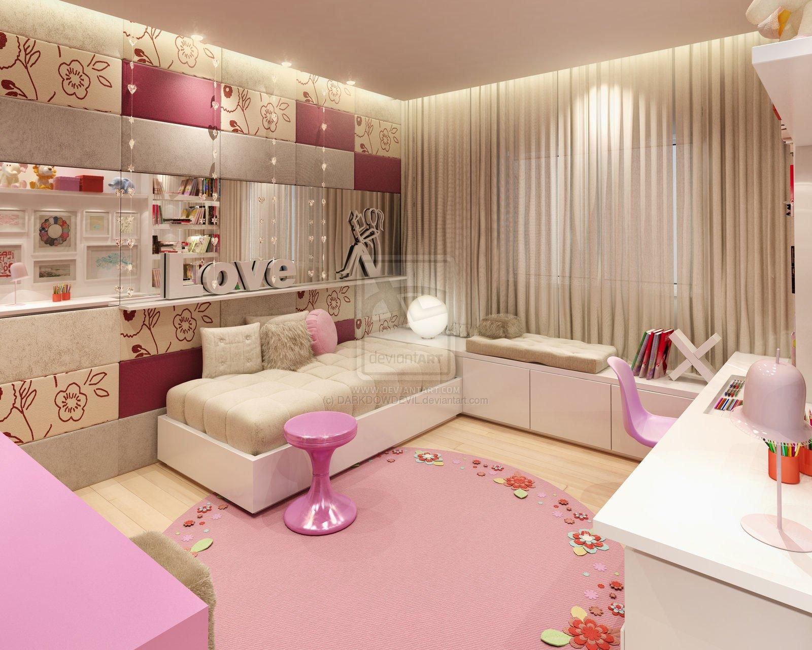 Фото детской комнаты для девочек дизайн 12 кв.м