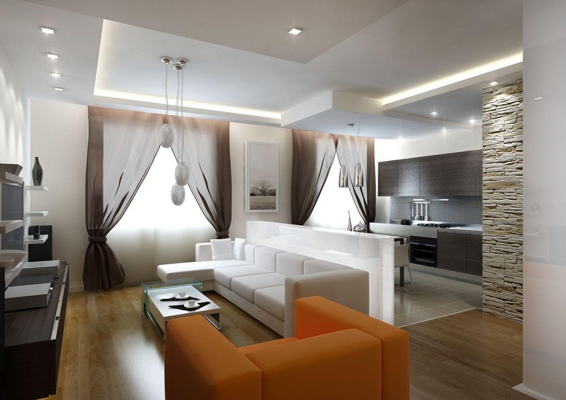 Интерьер комнаты-гостиной фото