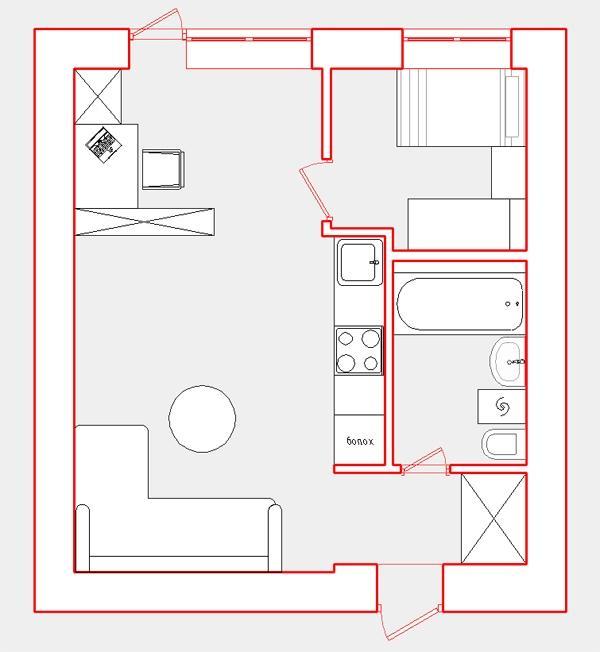 Ремонт и дизайн 3-х комнатной квартиры хрущевки