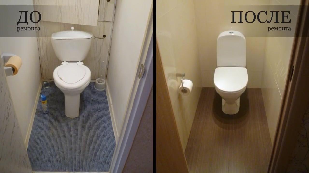 Ремонт в ванной и туалете своими руками видео