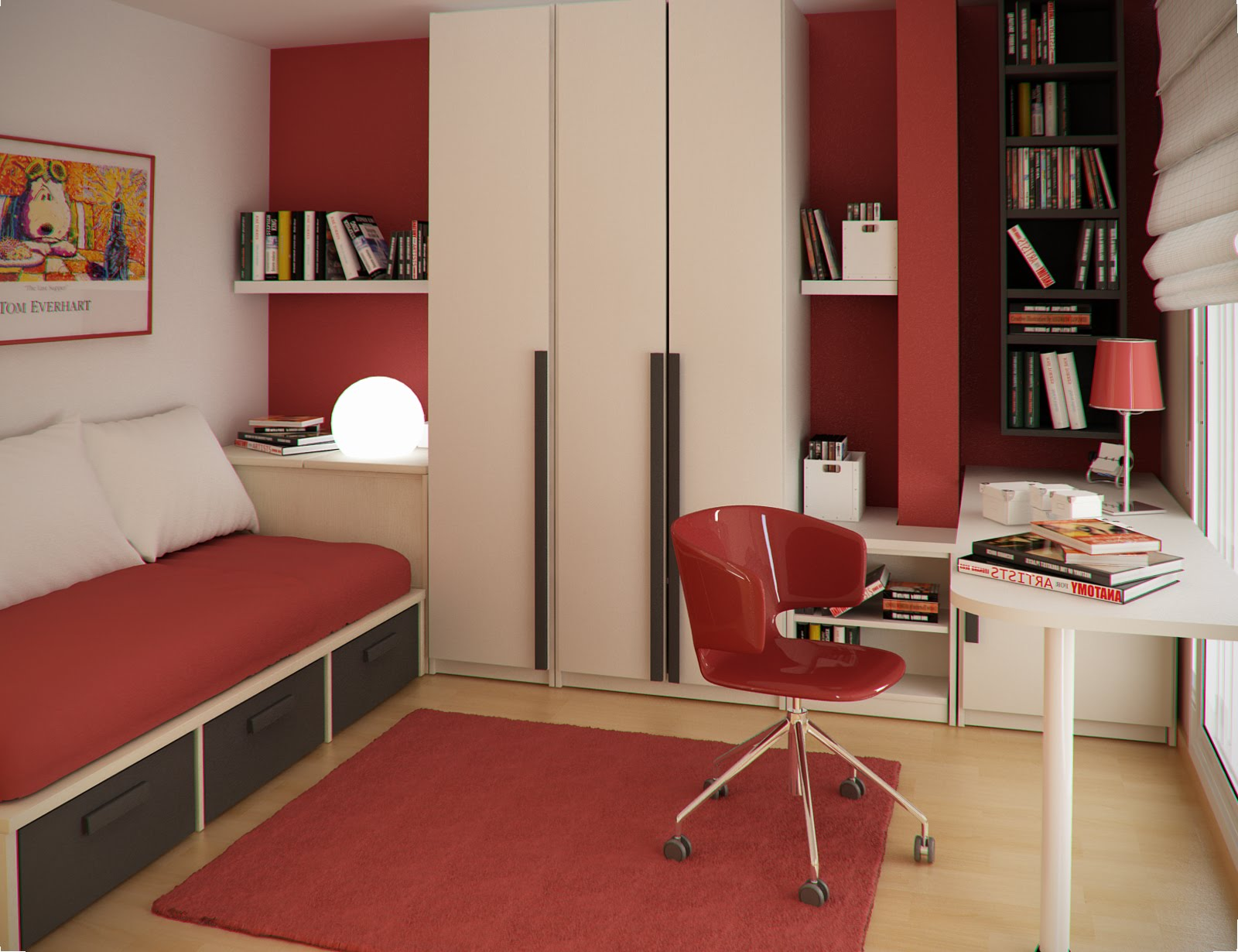 Интерьер для не большой комнаты