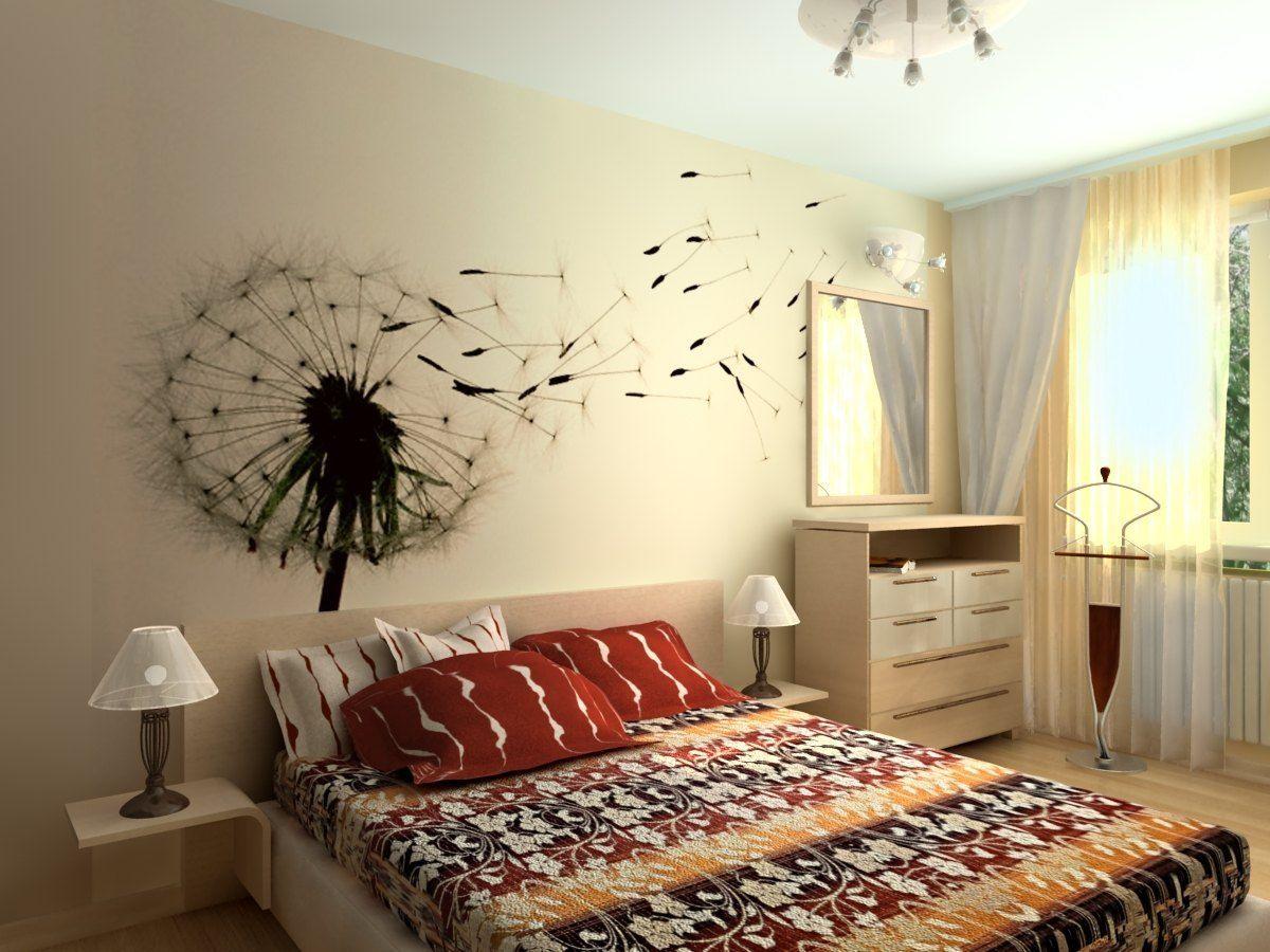 Как украсить стены в спальне своими руками