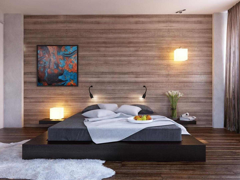 Дизайны для спальни из дерева