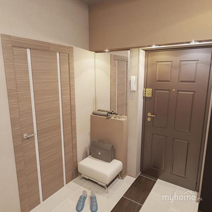 Прихожая в однокомнатной квартире дизайн