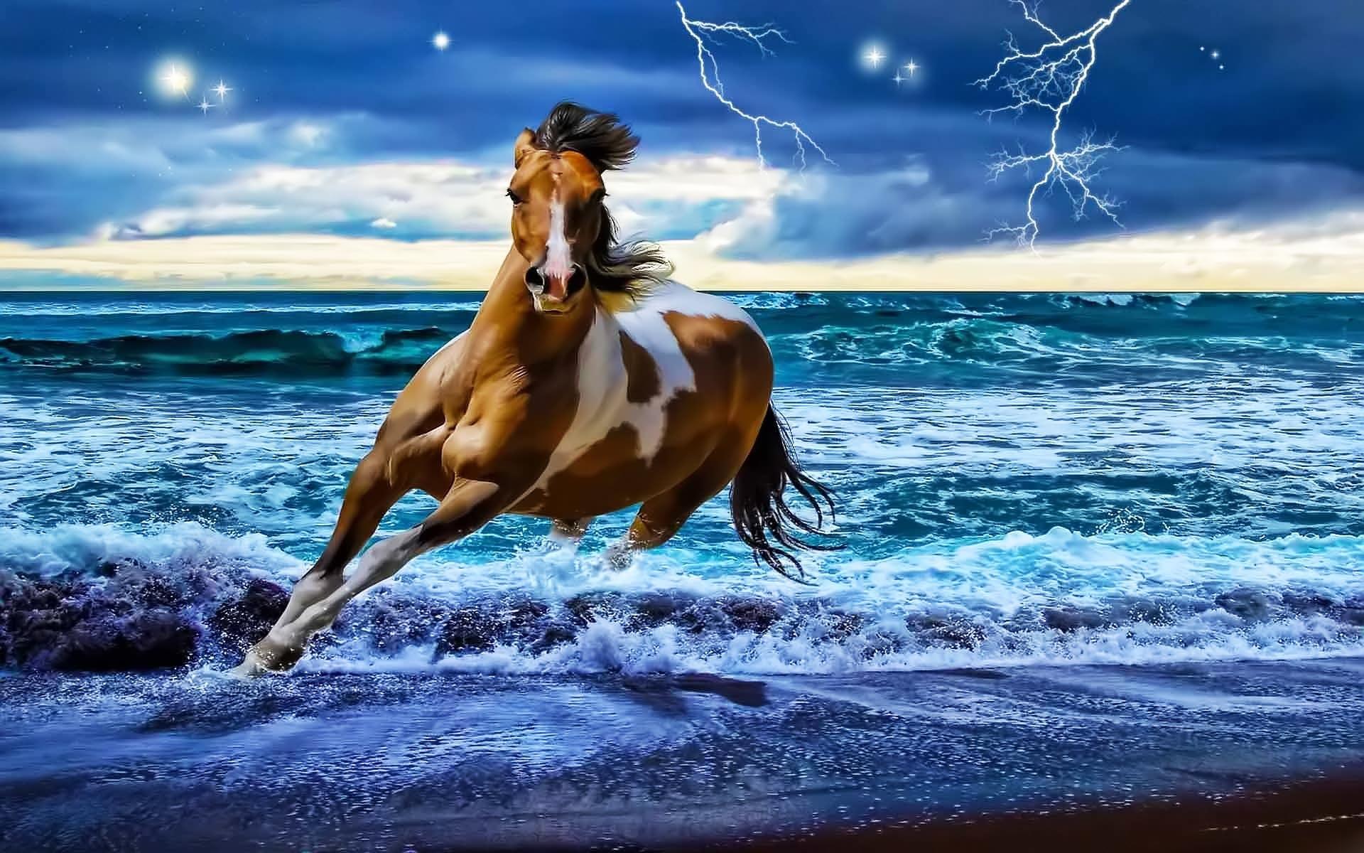 лошади обои на рабочий стол 1280х1024 № 489517  скачать
