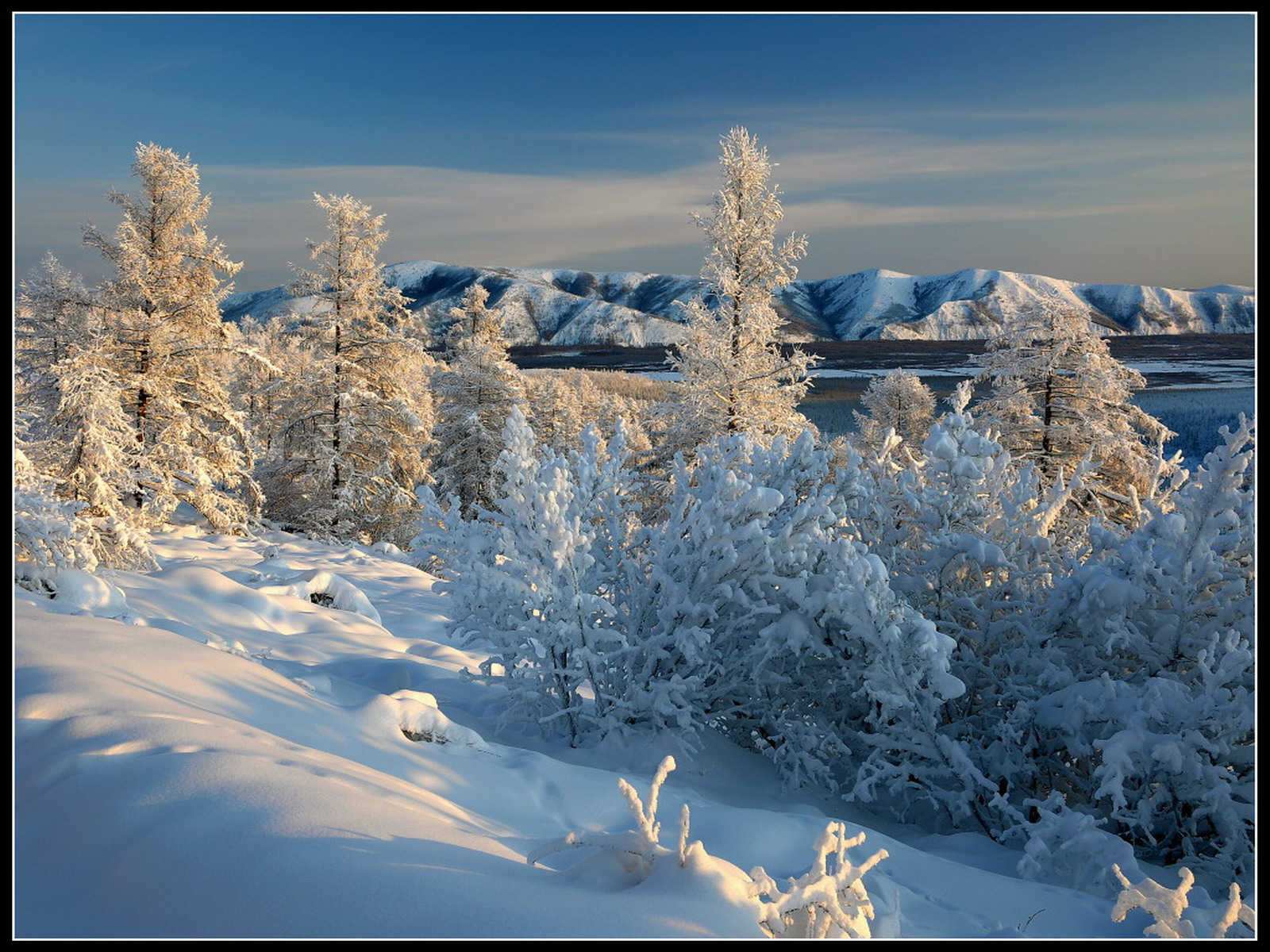 Широкоформатные обои для рабочего стола высокого качества зима 8
