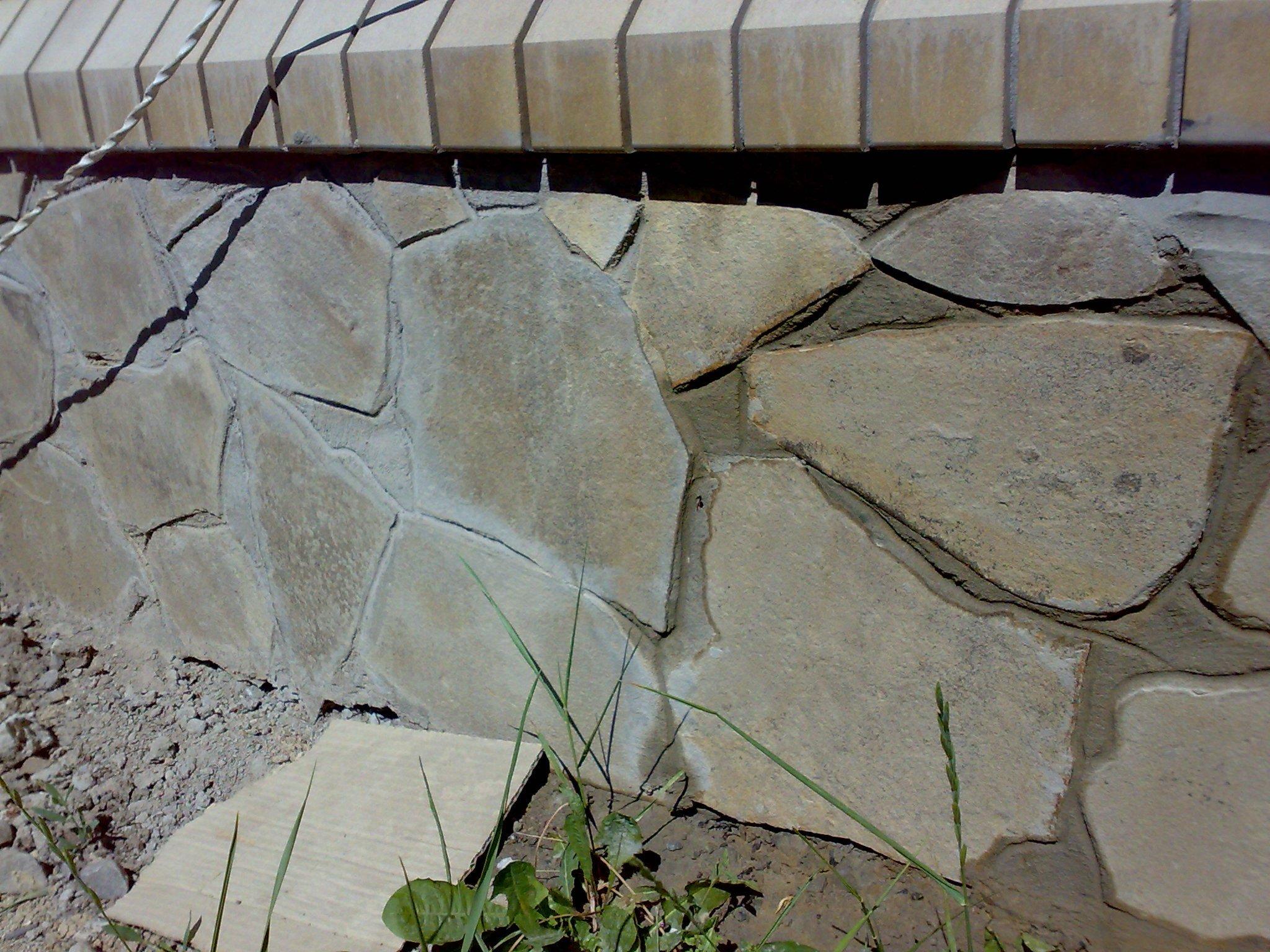 Облицовка фундамента из природного камня своими руками 47
