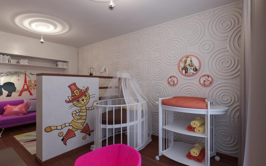 Детские в однокомнатной дизайн