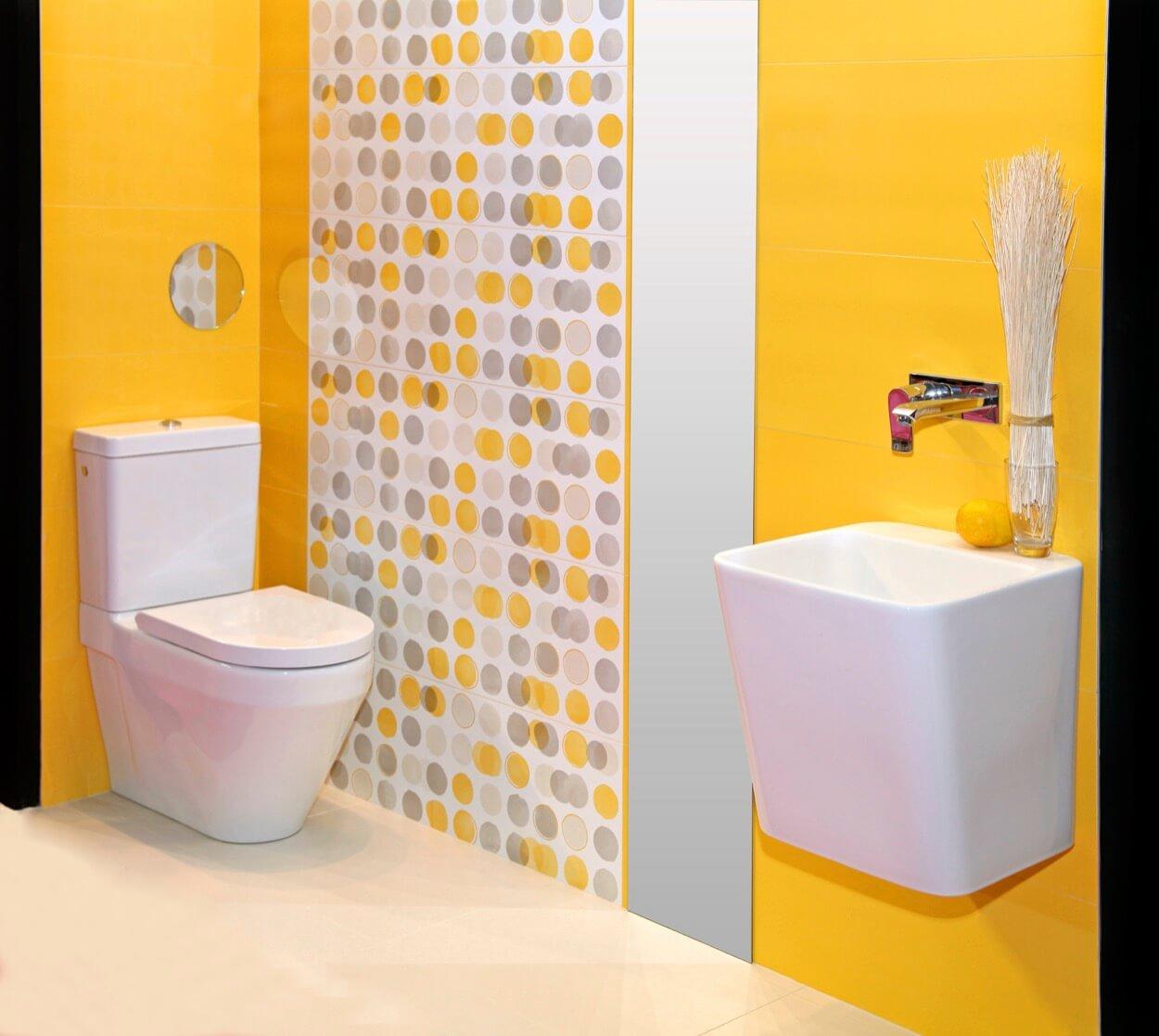 Yellow Badezimmer