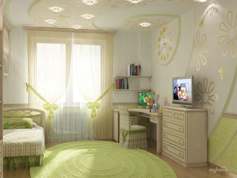 Идея для детской комнаты для девочек фото