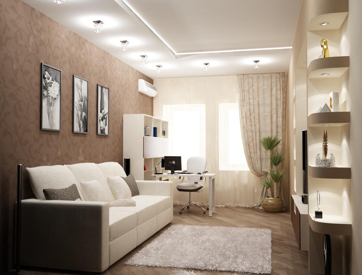 Практичный интерьер однокомнатной квартиры фото