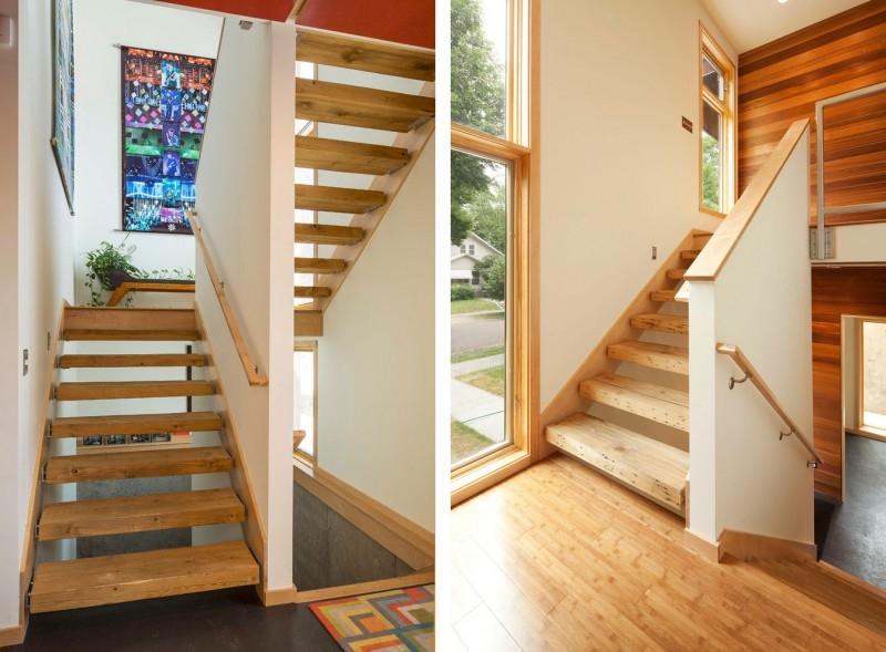 Как сделать лестницу с цокольного этажа в доме 190