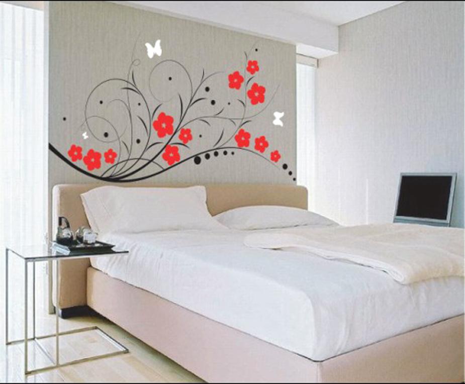 Рисунки на стене в комнате своими руками