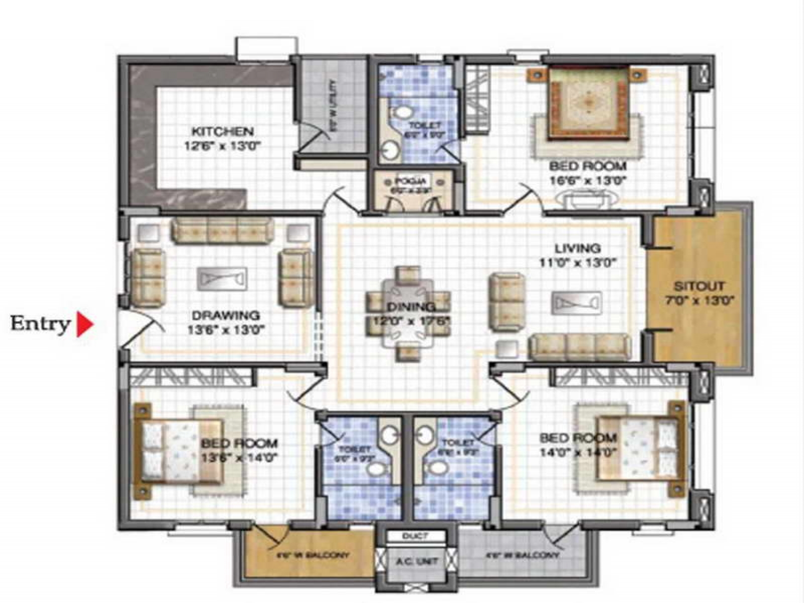 how to convert a 2d house plan into a 3d plan