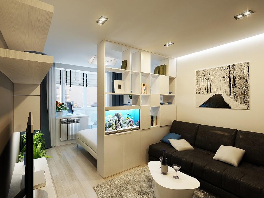Комната спальня и гостиная 15 кв.м дизайн