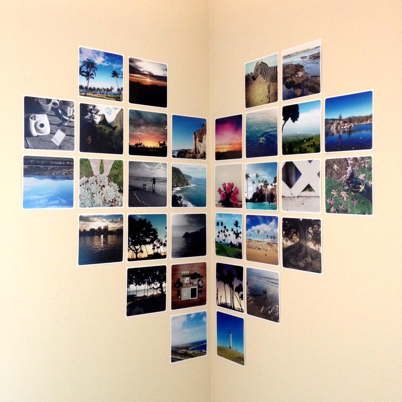 Стена из фотографий своими руками