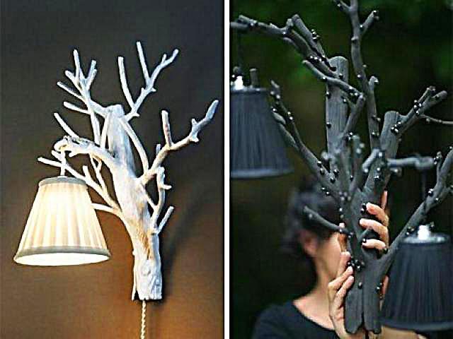 Поделки из веток деревьев своими руками для дома