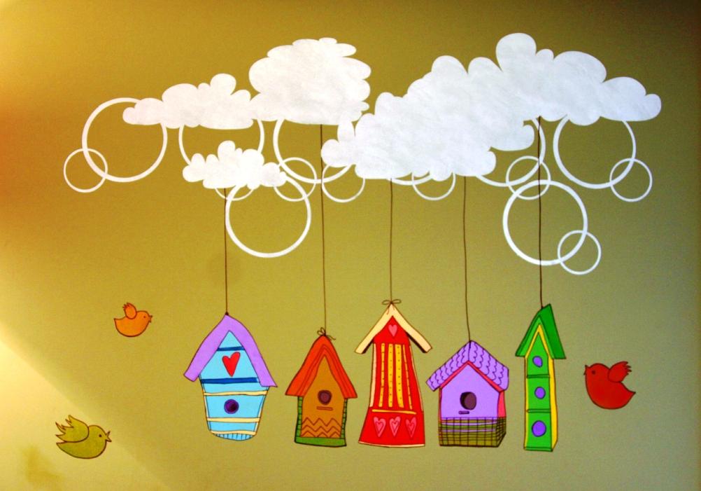 Украсить стену в детском саду своими руками