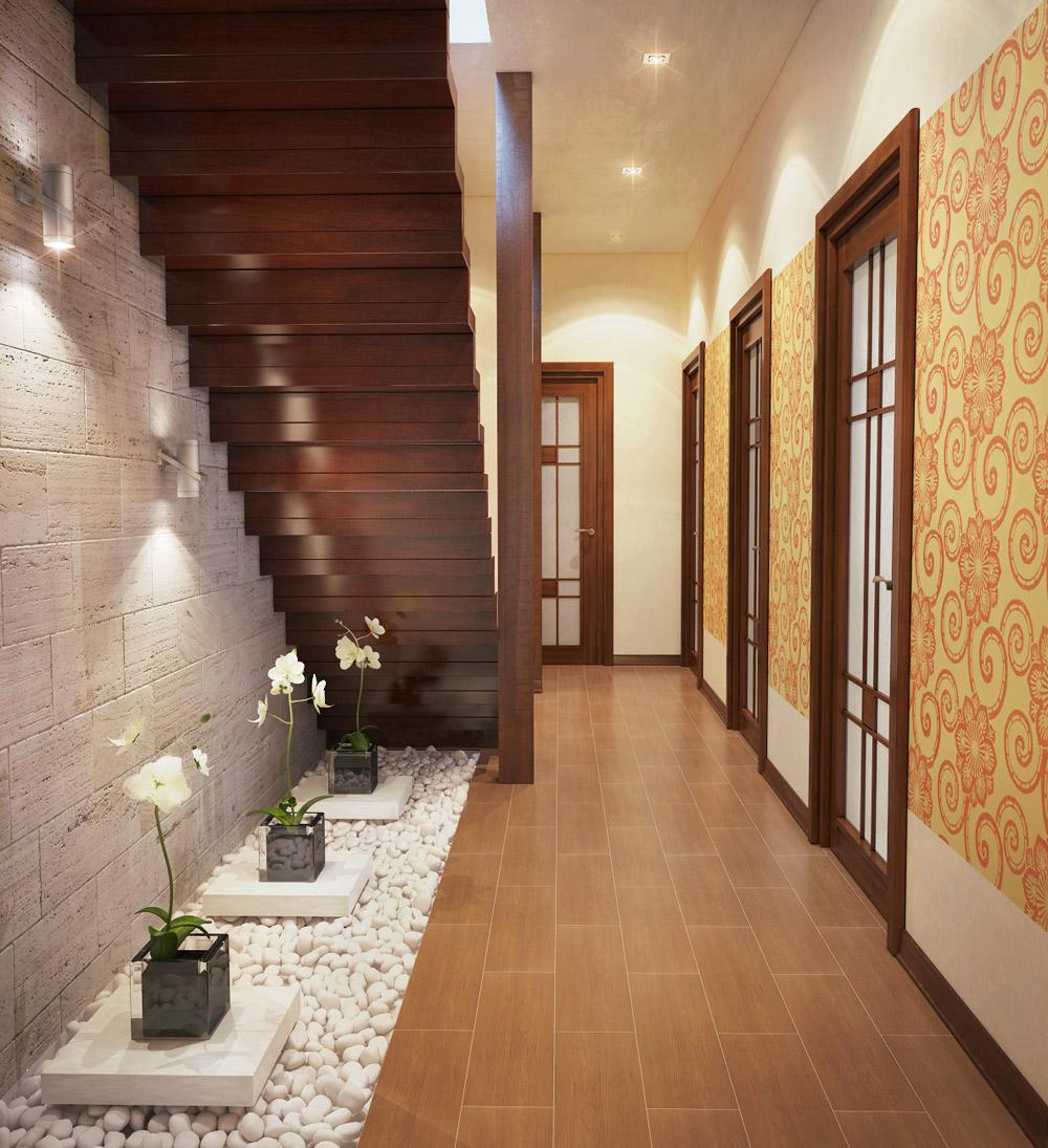 Дизайн коридора прихожей в частном доме