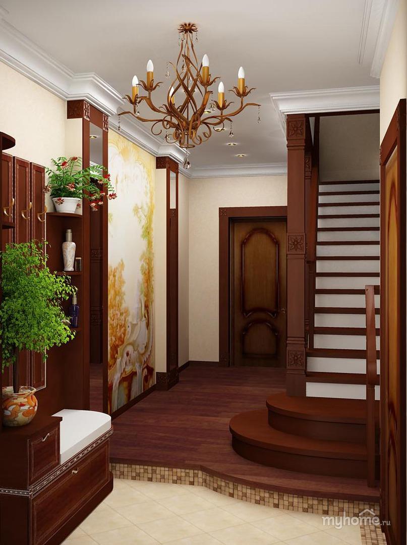 Дизайн в коридоре в частном небольшом доме