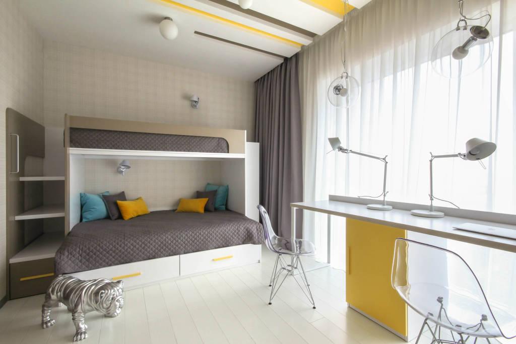 Дизайн детской комнаты для двух мальчиков 16 квм