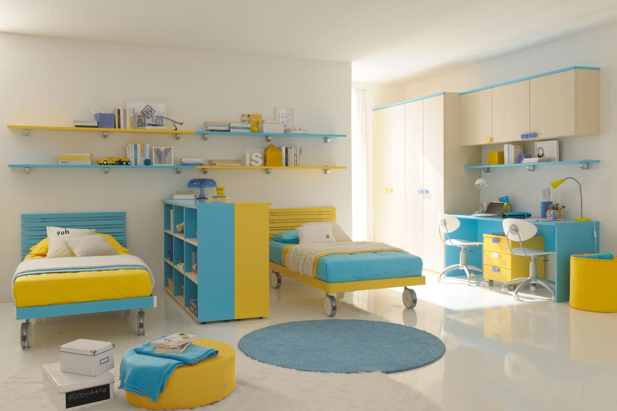 Обстановка детской комнаты для двоих детей фото