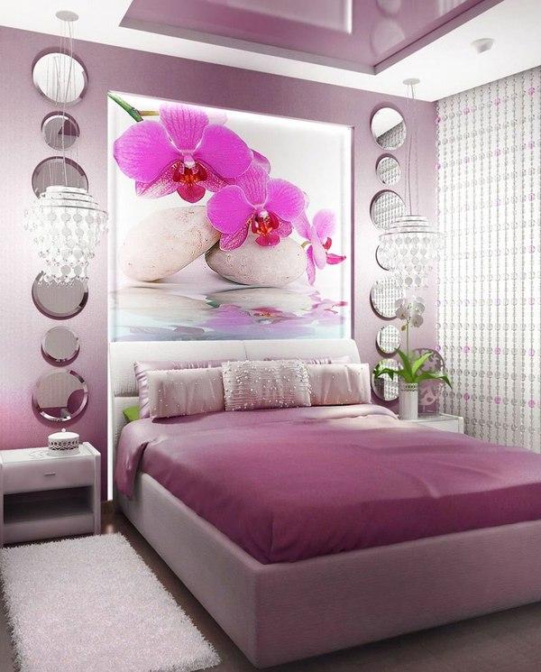 Идеи спальни с фотообоями фото