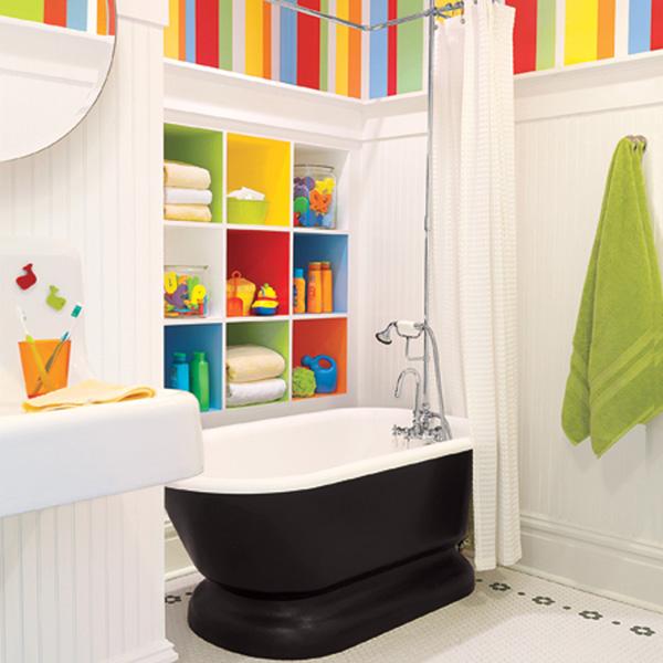 Интересный дизайн для маленькой ванны