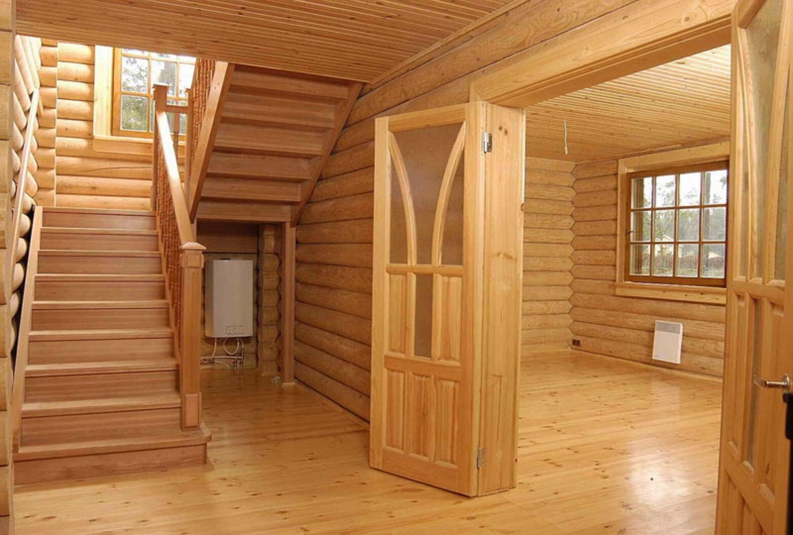 Деревянный дом отделка внутри фото своими руками
