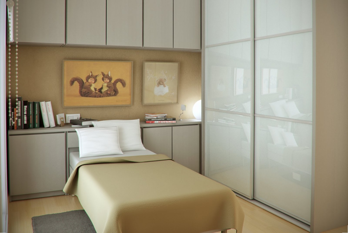 Дизайн очень-очень маленькой спальни