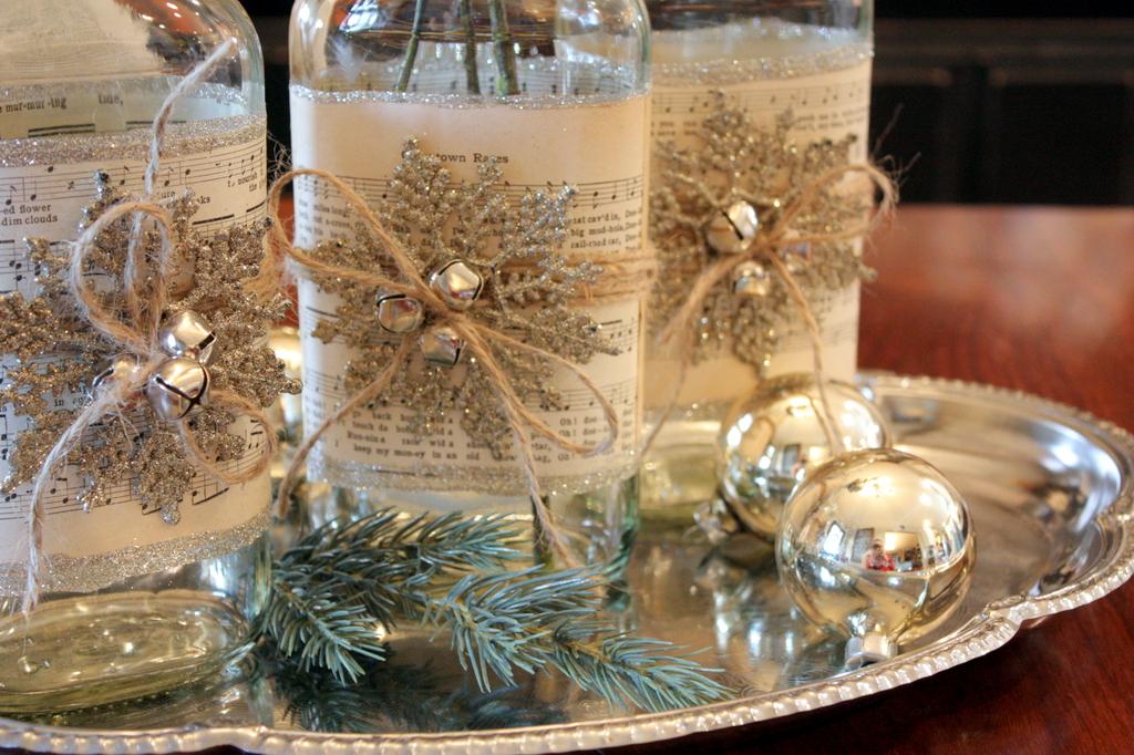 Новогоднее украшение своими руками для стола