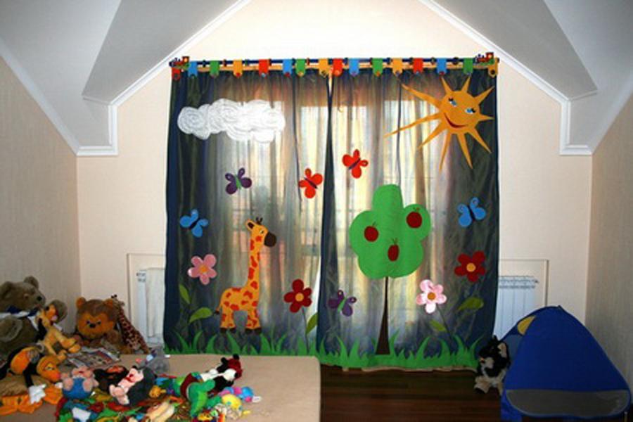 Фото шторы в детскую своими руками