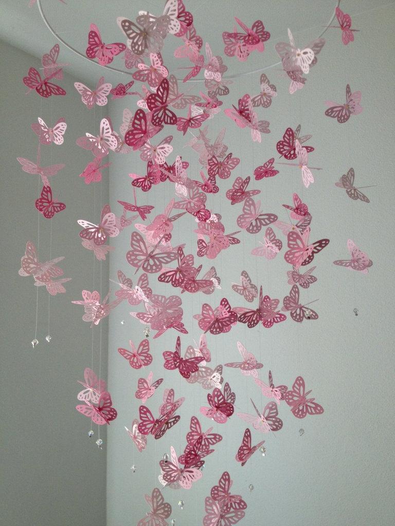 Бабочки для декора потолка
