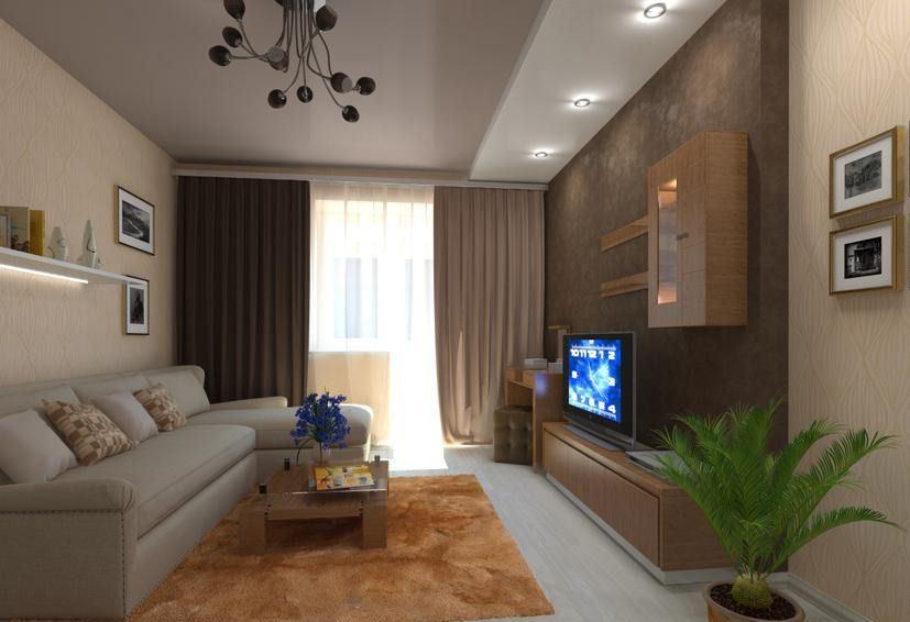 Проекты интерьеров квартир фото 2 комнатная квартира