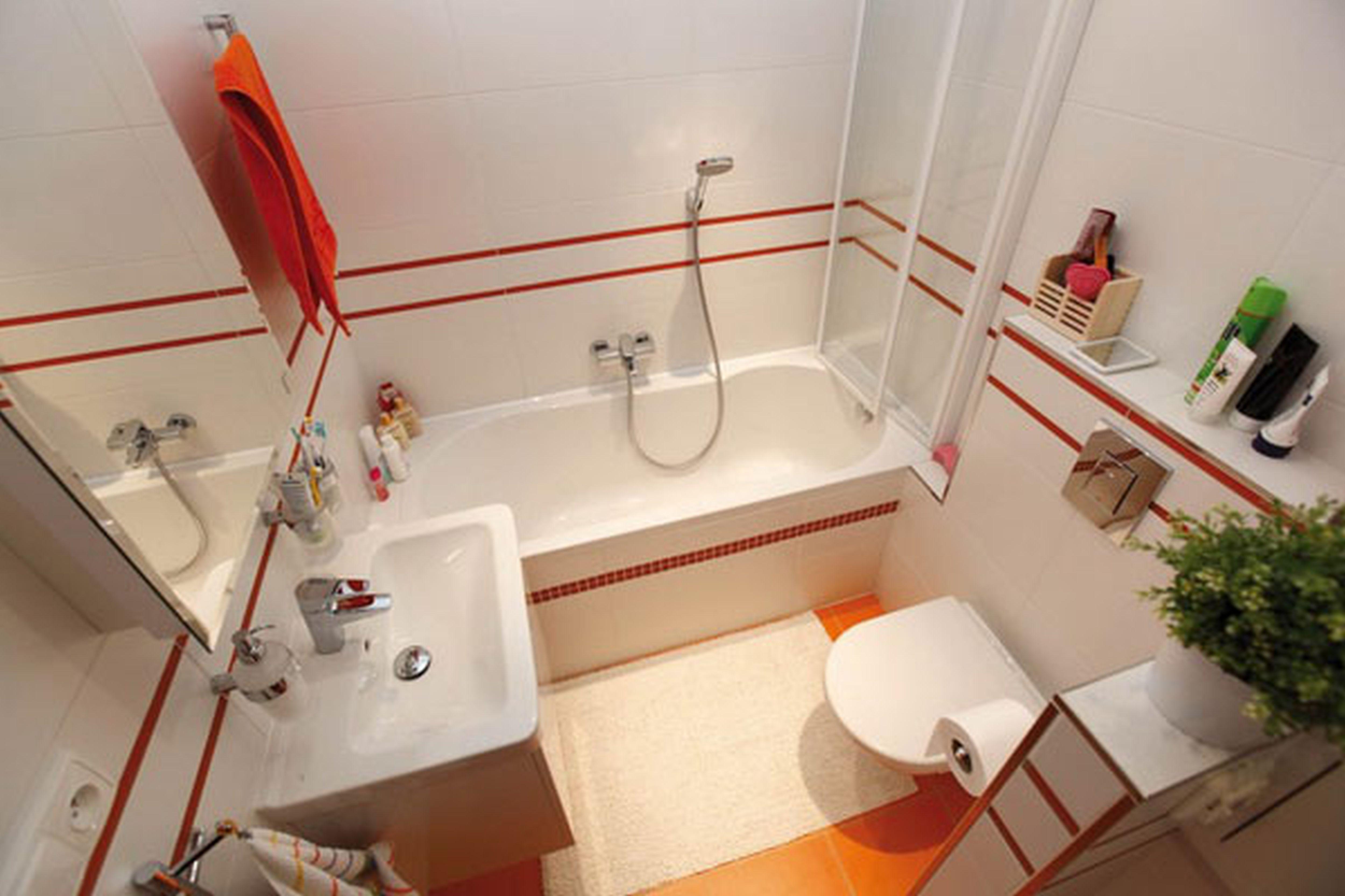 Дизайн в небольшой ванной комнате