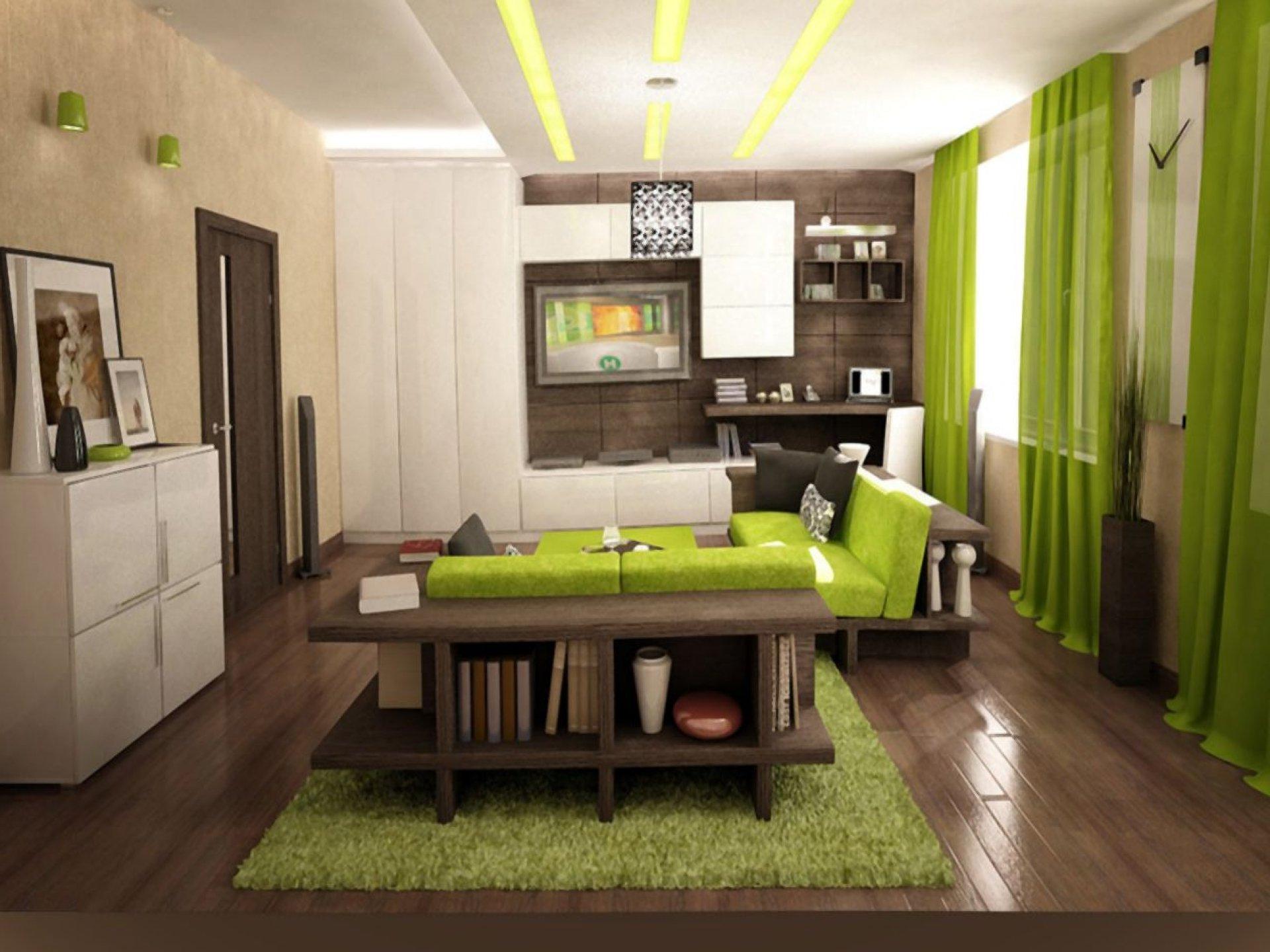 Интерьер для зеленой квартиры