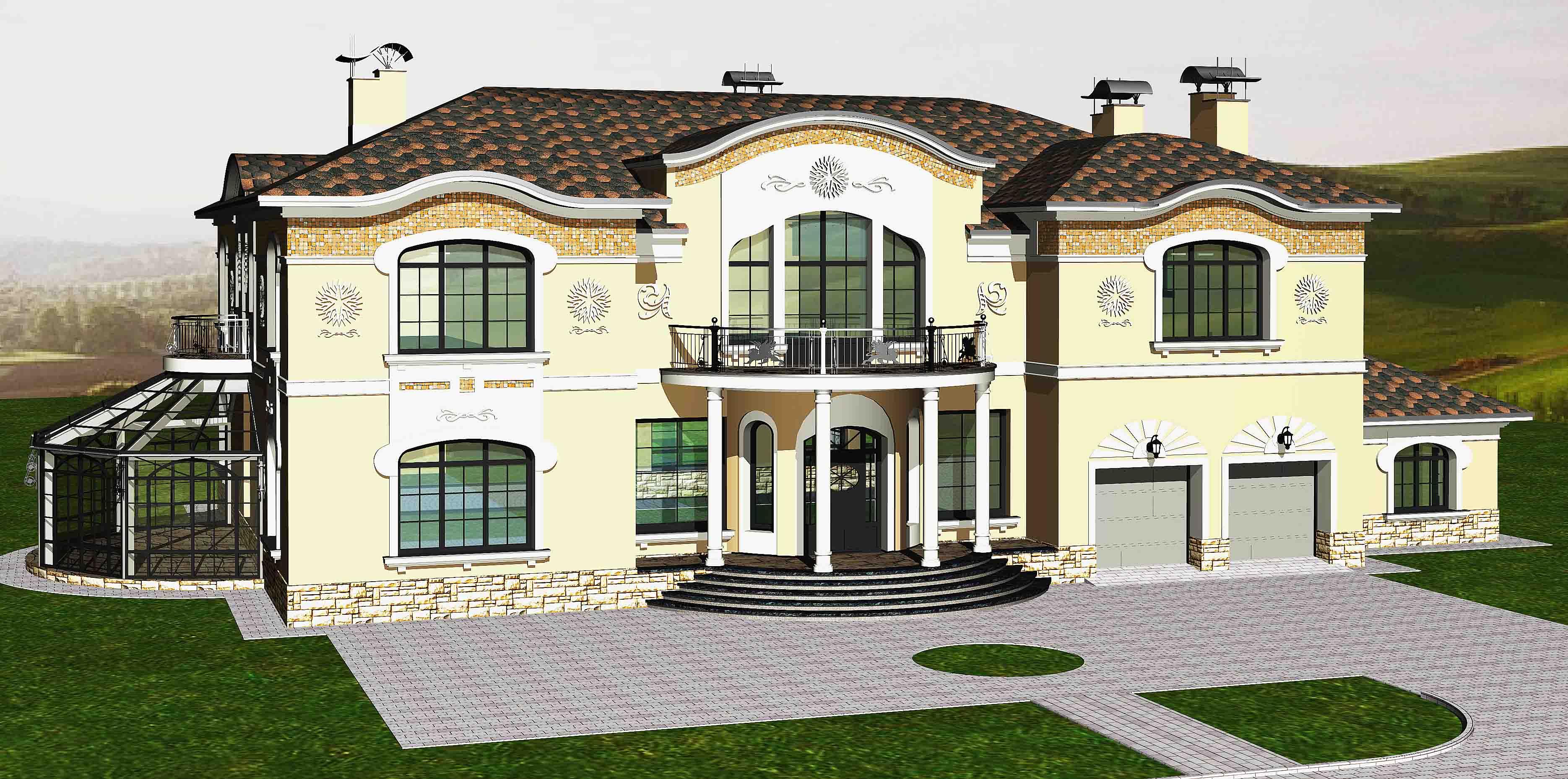 Проект 2-х этажного дома с гаражом фото и архитектурные особенности