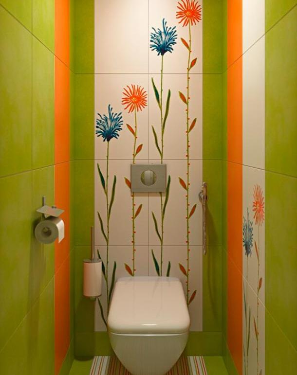 Кафель в туалете дизайн бюджетный
