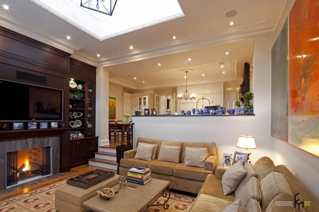 Дизайн гостиной кухни в доме