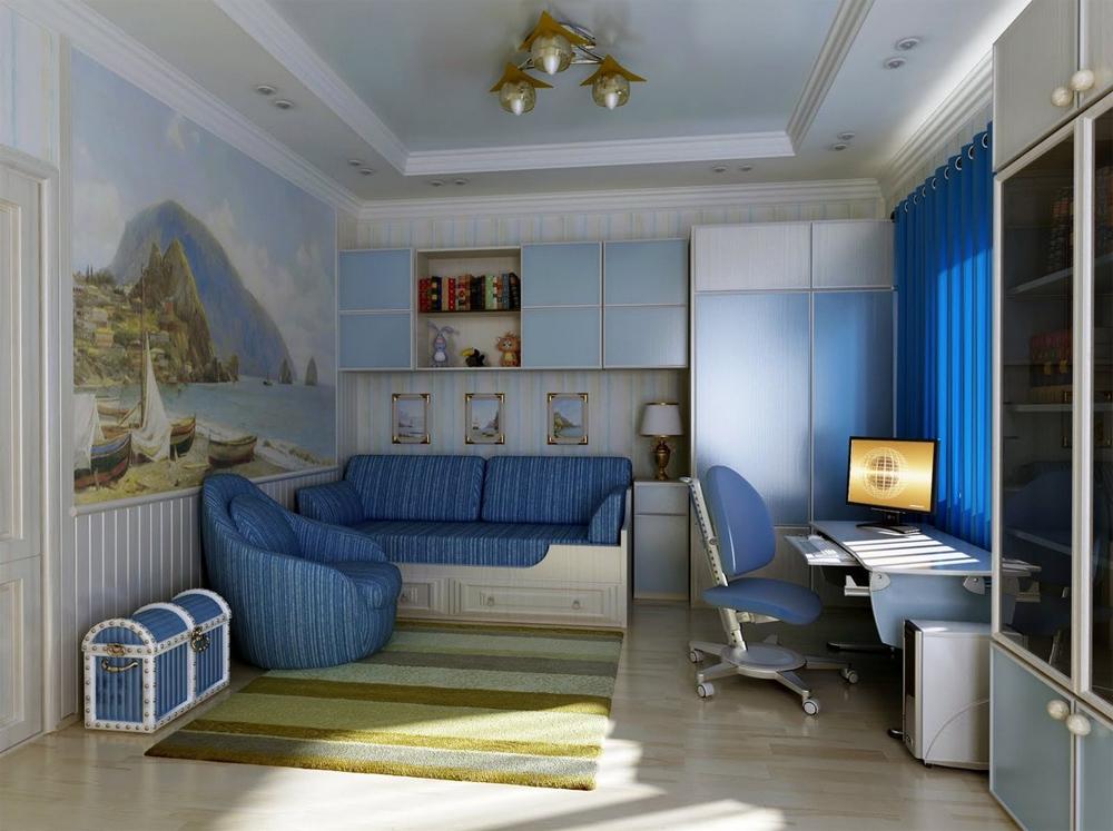 Фото интерьер детской комнаты для подростка мальчика