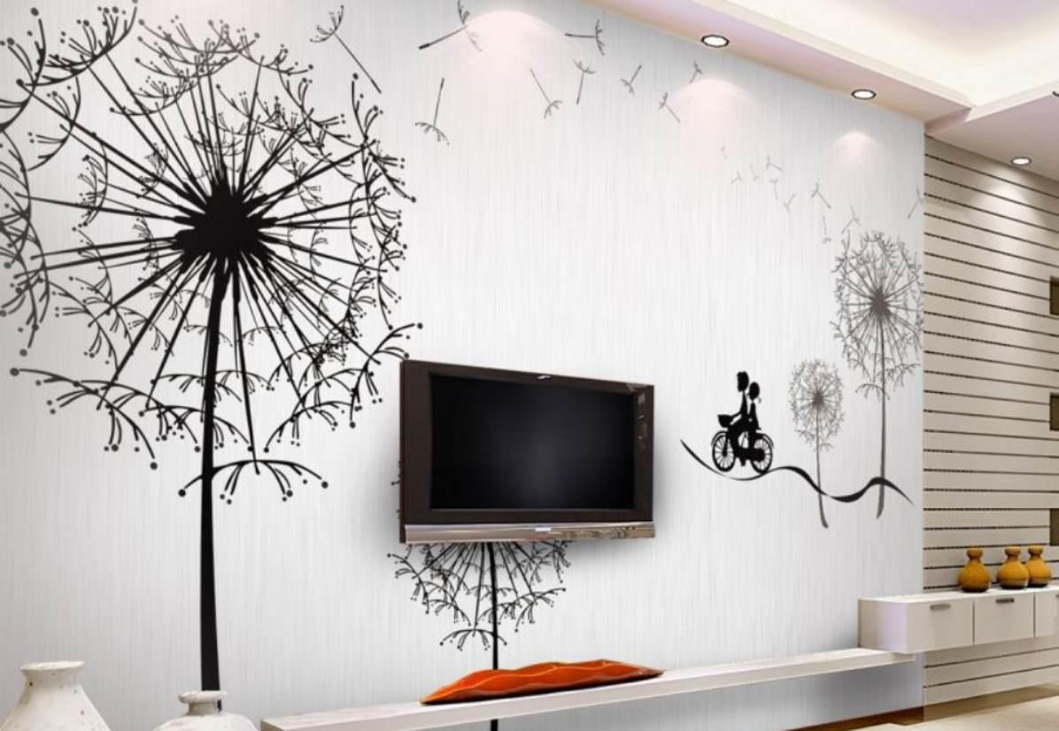 Рисунки на стену в комнате своими руками