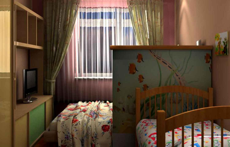 Как в одной комнате сделать две зоны: спальню 70