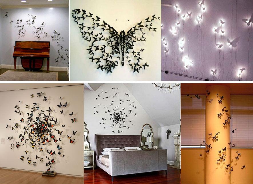 Декор квартиры своими руками бабочки