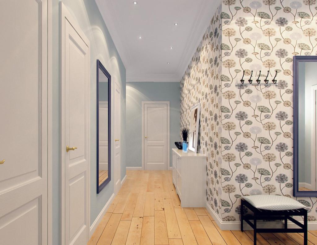 Дизайн интерьера обоев в коридоре
