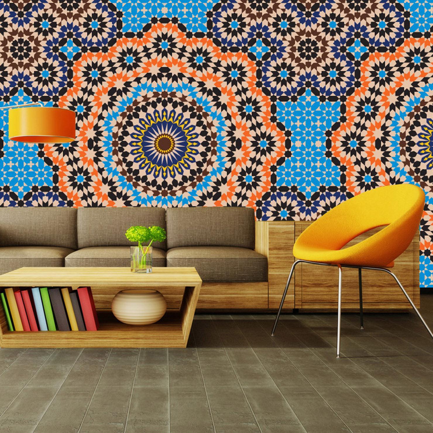 Марокканские узоры на стене