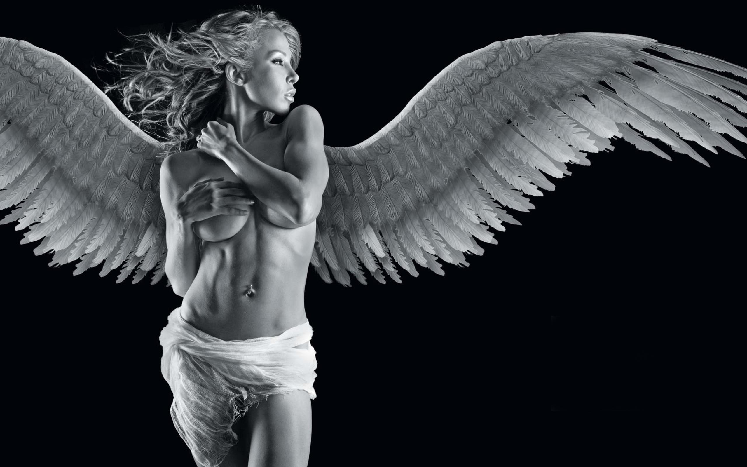 Фото обои для рабочего стола ангелы