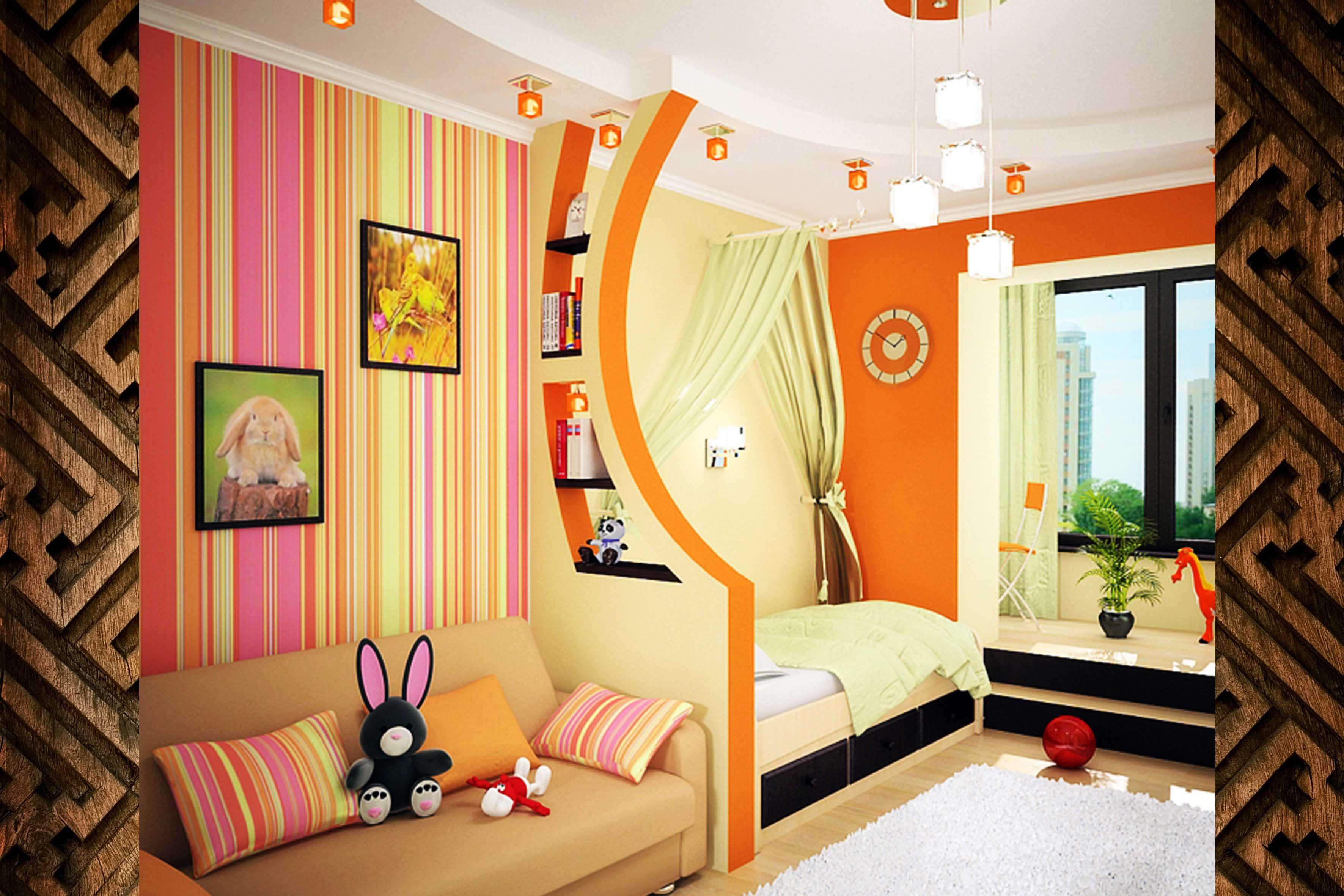 Совмещение спальни детской комнате - спальни детские фото, о.