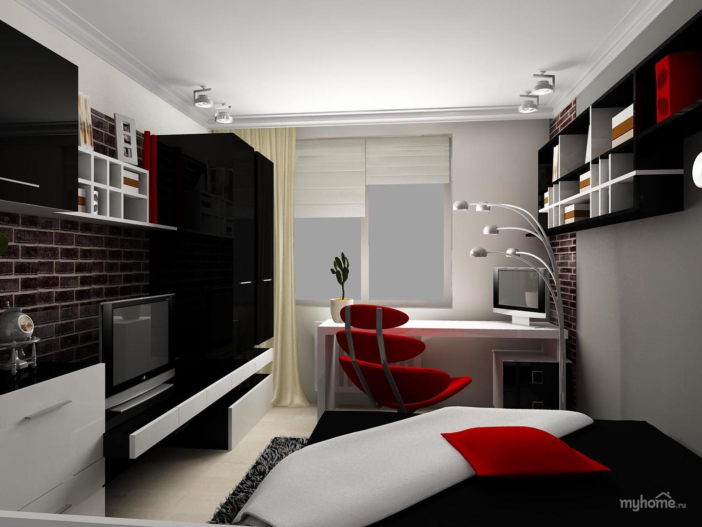 Современный дизайн комнаты для молодого человека